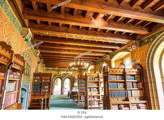 Wales, Cardiff, Cardiff Castle, The Library