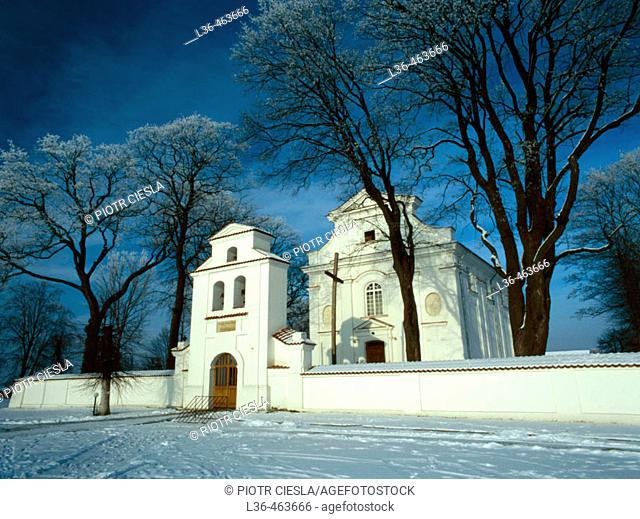 Niemirow, church from the XVIII century. Podlasie region. Eastern Poland
