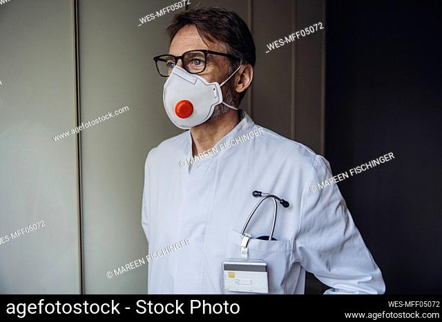 Portrait of doctor, wearing protective mask