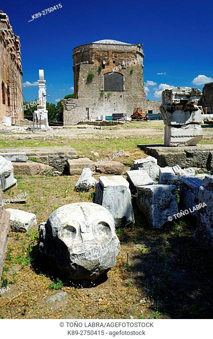 Red Basilica of Pergamo. Ancient Greece. Asia Minor. Turkey