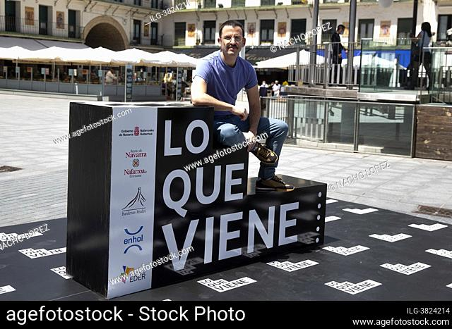 Borja de La Vega attends to Mía y Moi photocall during the Lo que viene Film Festiva May 14, 2021 in Tudela, Spain Navarra, Spain