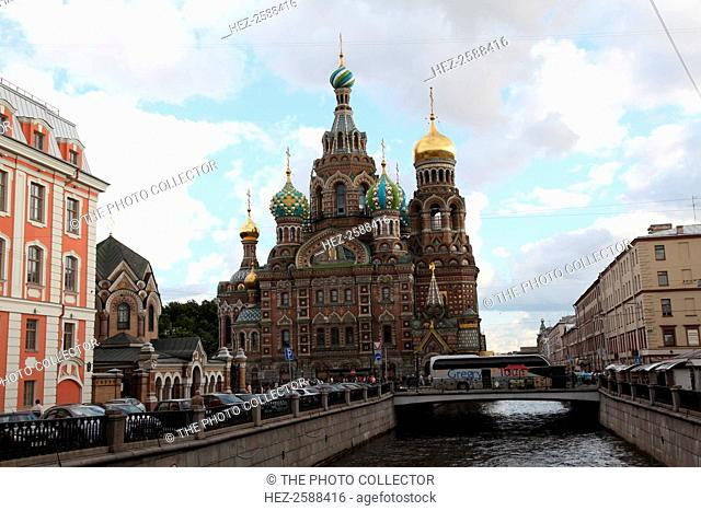 Church of the Saviour on Blood, St Petersburg, Russia, 2011. Also known as the Church on Spilt Blood and the Cathedral of the Resurrection of Christ