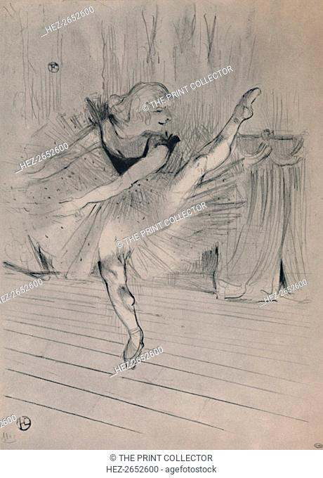 'Miss Ida Heath, English Dancer', c.1894, (1946). A high-kicking woman on stage. Parisian fin-de-siecle nightlife was colourful
