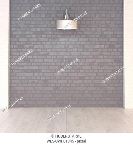 Wall lamp, 3d rendering
