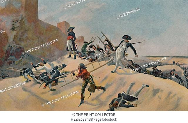 'The Example. - Kleber at the Assault of Acre', 1799, (1896). Artist: Unknown