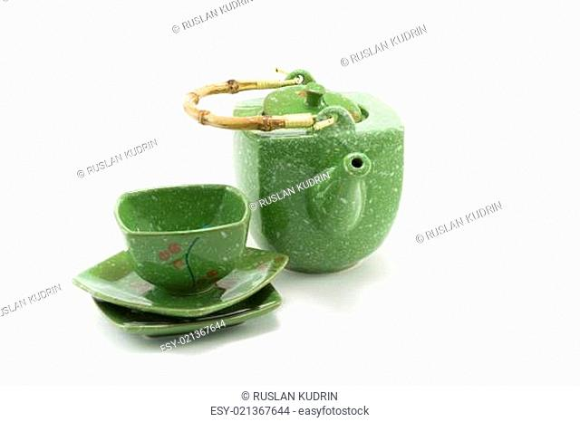 Chinese teapot and cup 2