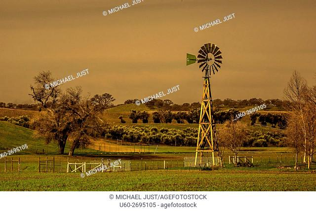 Farmland in rural California