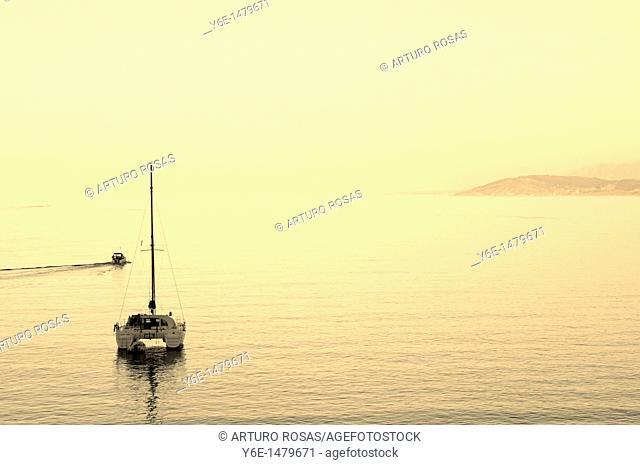 Boat in Lastres Asturias, Spain