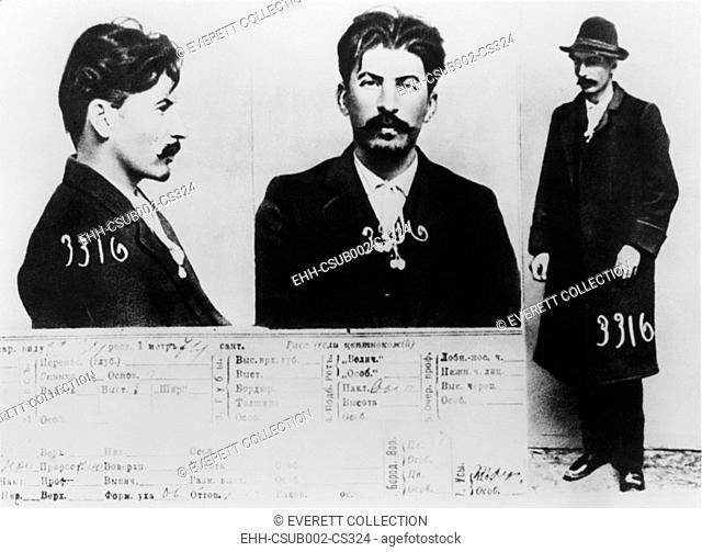 Josef Stalin's identification card for the Secret Police files in Petersburg 1913. (CSU-2015-11-1360)