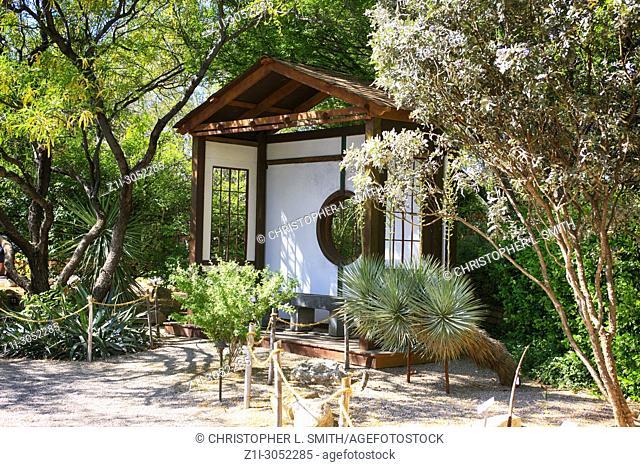 Japanese gardens at the Tucson Botanical Gardens in Arizona