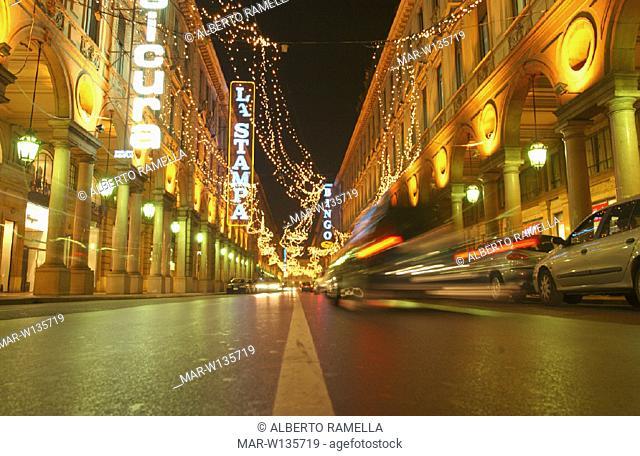 italy, piemonte, turin, rome street