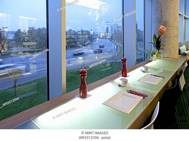 Window Seating in an Upscale Cafe