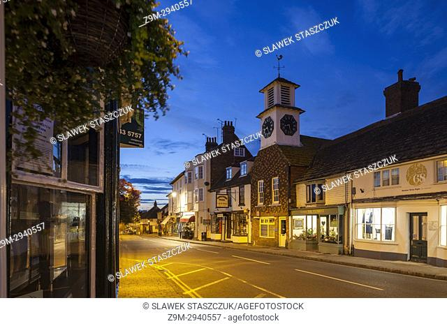Evening in Steyning, West Sussex, England
