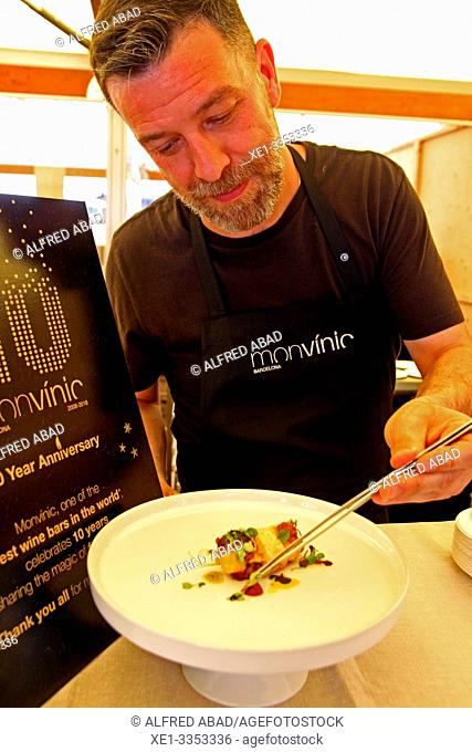 chef, gastronomic festival 'Tast a la Rambla', 6th Gastronomy Week of Barcelona, Catalonia, Spain