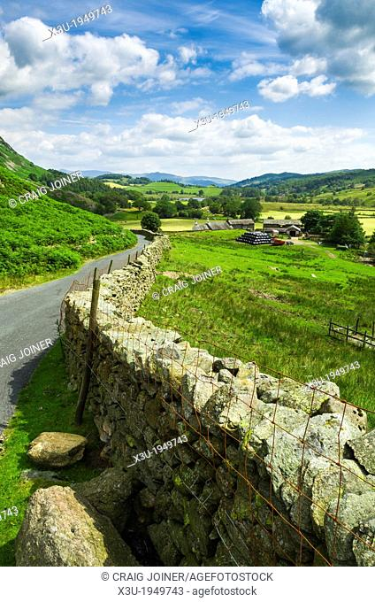 Little Langdale Valley in the English Lake District, Cumbria, England