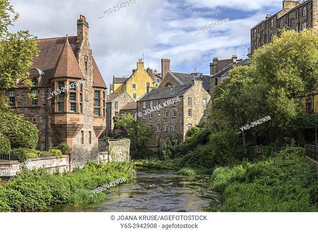 Dean Village, Edinburgh, Lothian, Scotland, United Kingdom