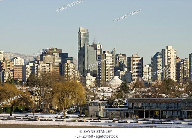 City skyline seen from Kitsilano, Vancouver, British Columbia