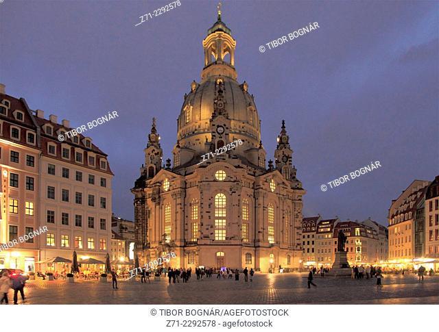 Germany, Saxony, Dresden, Neumarkt, Frauenkirche, Church of Our Lady