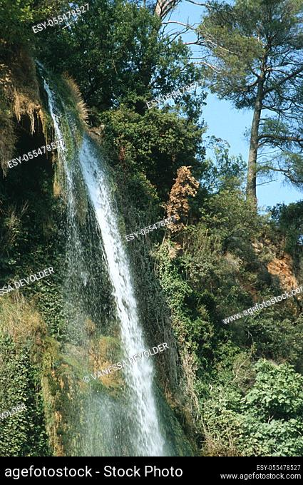 Waterfall. Country: France, Region: Provence, City: Sillans