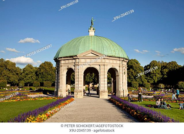 diana temple at the Hofgarten, Court Garden of the Residenz Palace in Munich, Bavaria, Germany