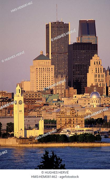 Canada, Quebec, Montreal, the port and the downtown