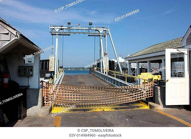 Ferry dock in New England