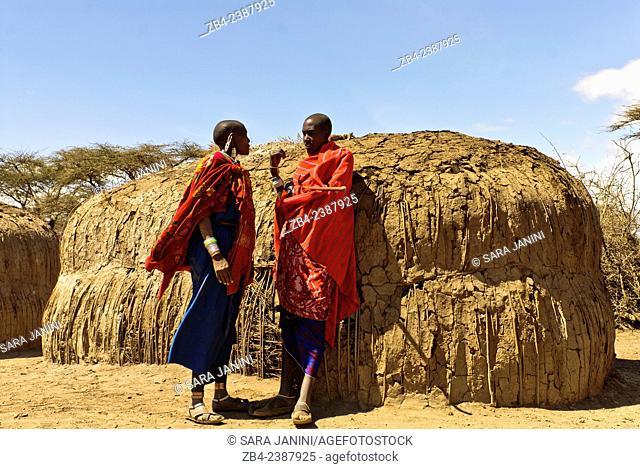 Masai Village, Ngorongoro Conservation Area, Tanzania, East Africa