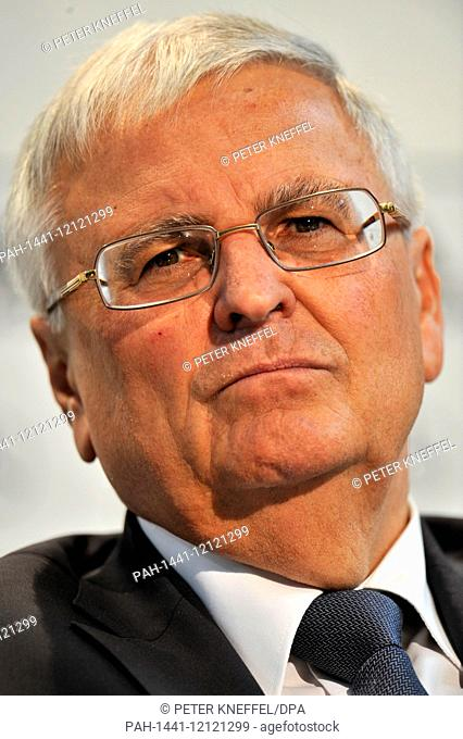Theo Zwanziger, president of the German Football Association (DFB), grimaces during a press conference of the German national squad in Tenero near Locarno
