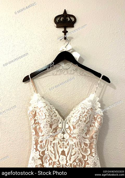 Bride Wedding Dress on Hanger