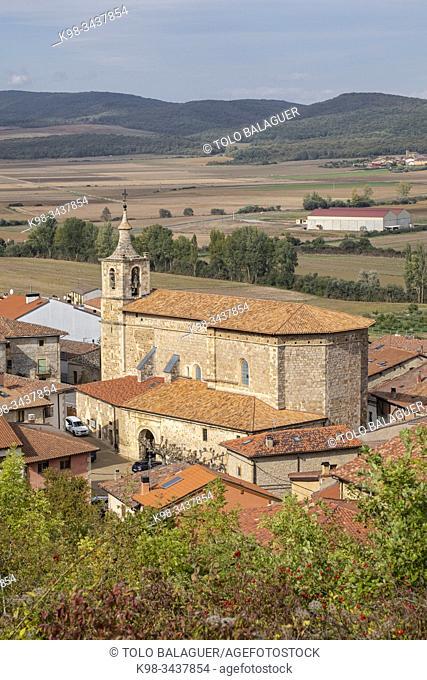 iglesia parroquial, dedicada a la Natividad de Nuestra Señora, Bernedo , Alava, País Vasco, Spain