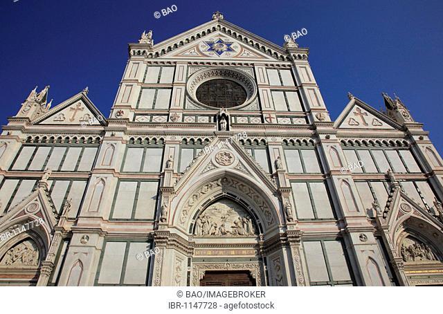 Franciscan church of Santa Croce at the Piazza Santa Croce in Florence, Florence, Tuscany, Italy, Europe