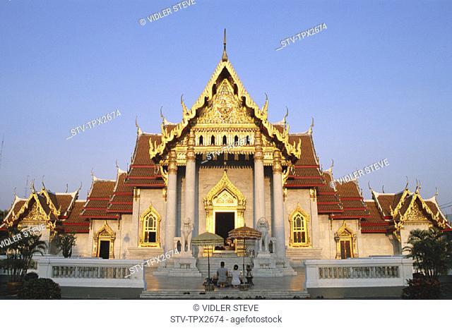 Asia, Bangkok, Holiday, Landmark, Marble temple, Thailand, Tourism, Travel, Vacation, Wat benchamabophit