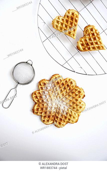 Fresh Waffles, Munich, Bavaria, Germany, Europe