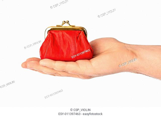 Hand with purse