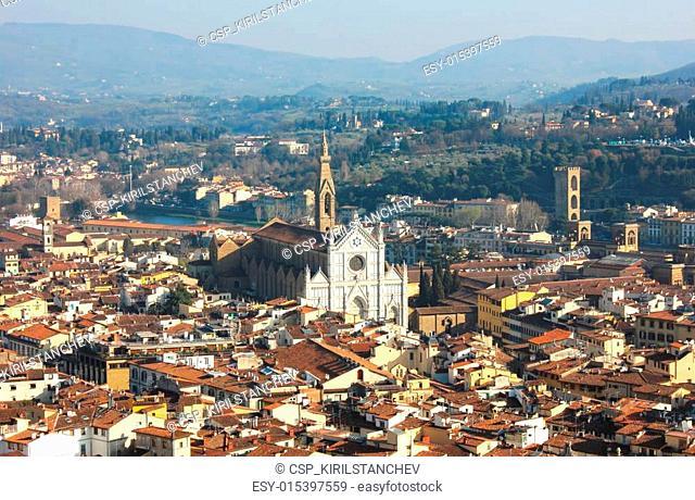 Florence with The Basilica di Santa Croce