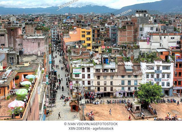 Cityscape from Hanuman Dhoka Royal Palace Complex, Kathmandu, Nepal