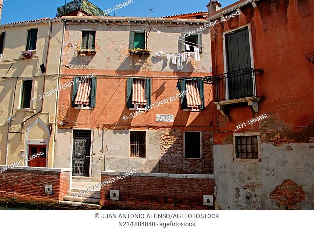 Fondamenta del Piovan o Erizzo  Sestiere di Castello  Venice, Veneto, Italy, Europe