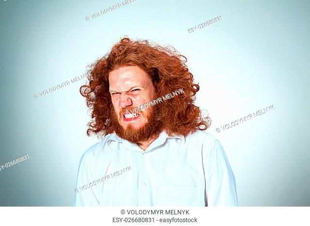 The angry young man with long red hair