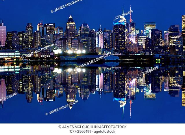 New York City, Manhattan, Skyline, West Side