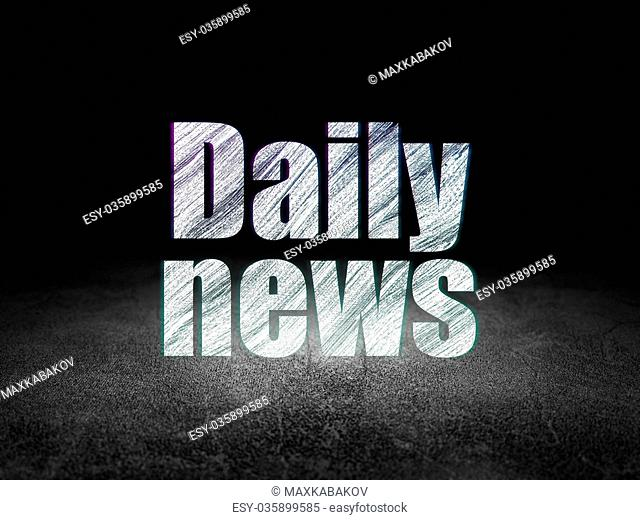 News concept: Daily News in grunge dark room