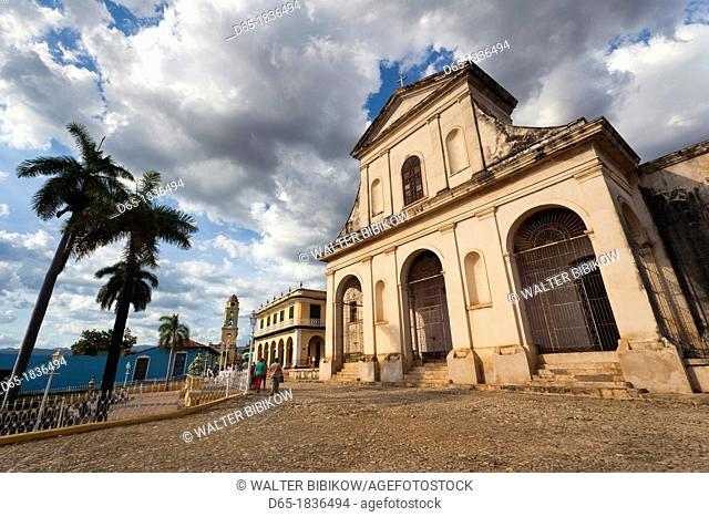 Cuba, Sancti Spiritus Province, Trinidad, Iglesia Parroquial de la Santisima Trinidad, Holy Trinity Church, late afternoon