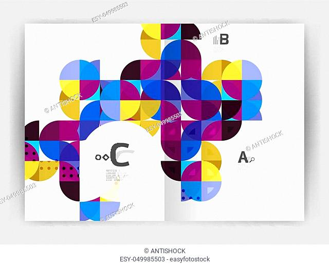 Abstract background with color triangles, annual report print backdrop. Vector design for workflow layout, diagram, number options or web design