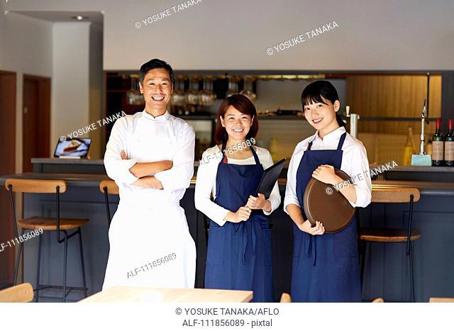 Japanese restaurant staff