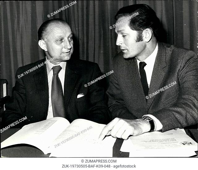May 05, 1973 - British airline pilot's Association give press conference on the trident air crash report.: The report on the Trident aircraft which crashed in a...