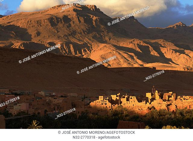Tinerhir, Tineghir, Tinghi, Todra valley, Todra Gorges, Oasis, landscape, Old Kasbah, Morocco, North Africa