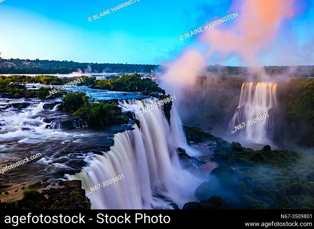 Iguazu Falls (Iguacu in Portugese), on the border of Brazil and Argentina. It is one of the New 7 Wonders of Nature and is a UNESCO World Heritage Site