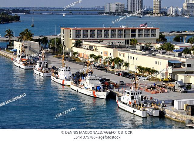 US Coast Guard boats Miami Florida harbor