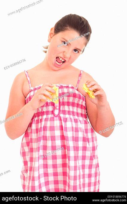 Girl eating chips