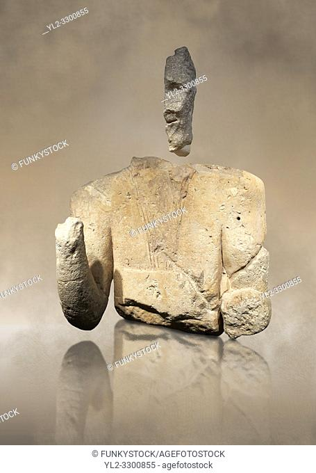 9th century BC Giants of Mont'e Prama Nuragic stone statue of an archer, Mont'e Prama archaeological site, Cabras. Museo archeologico nazionale, Cagliari, Italy