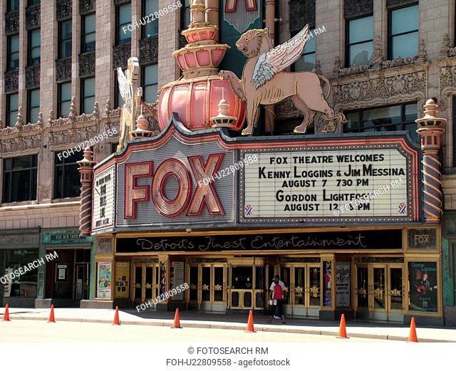 Detroit, MI, Michigan, Motor City, Downtown, Fox Theatre, theater